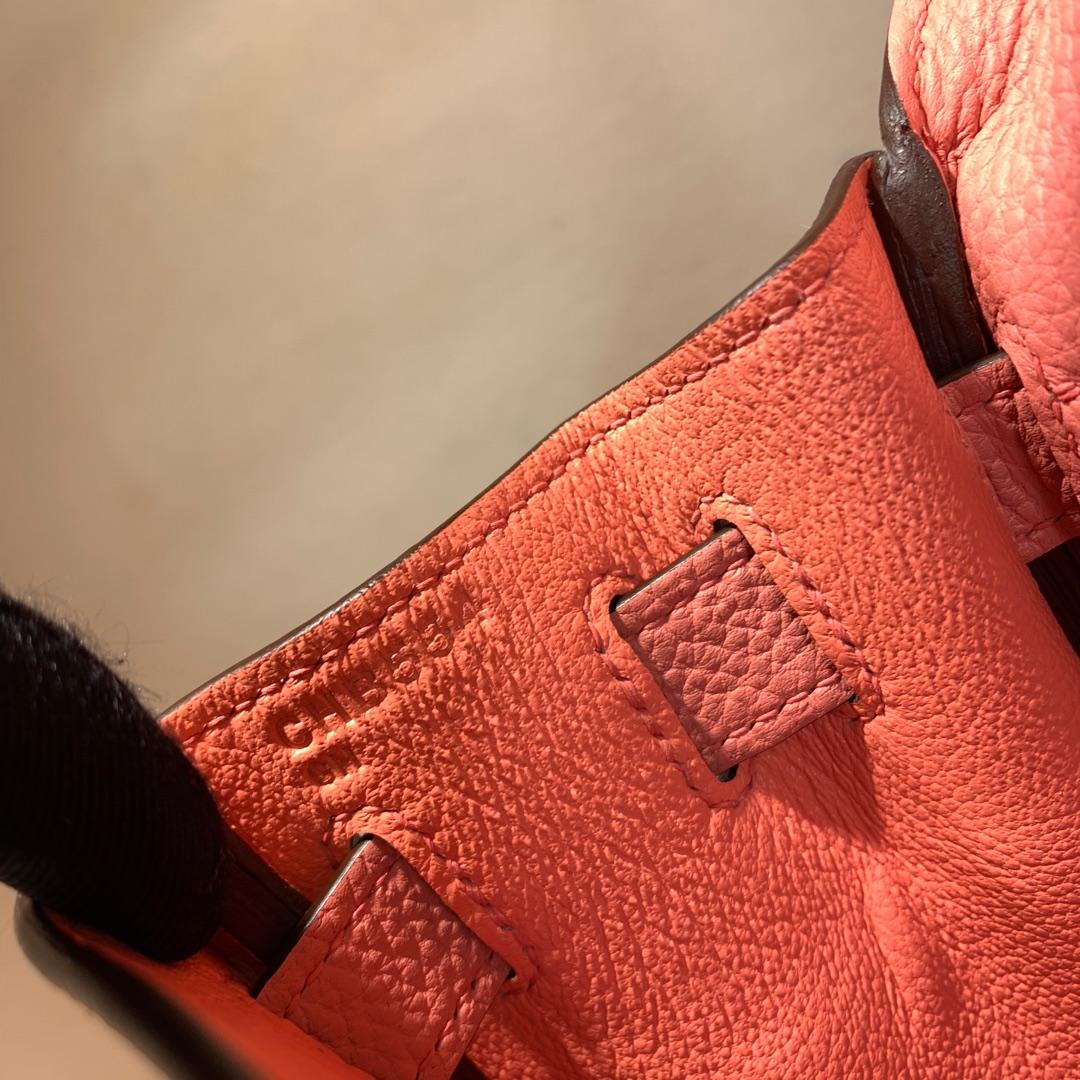 爱马仕凯莉包 Kelly 28cm 法国顶级Togo I5 Fiamingo 火烈鸟粉 金扣 顶尖工艺