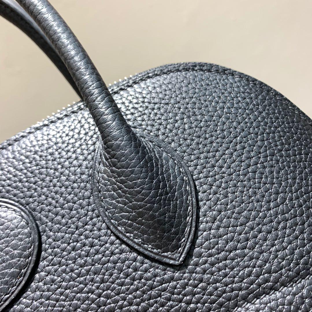 爱马仕Hermes Bolide 31cm Clemence 法国顶级tc皮 89 Noir 黑色 银扣 顶级工艺手缝蜡线