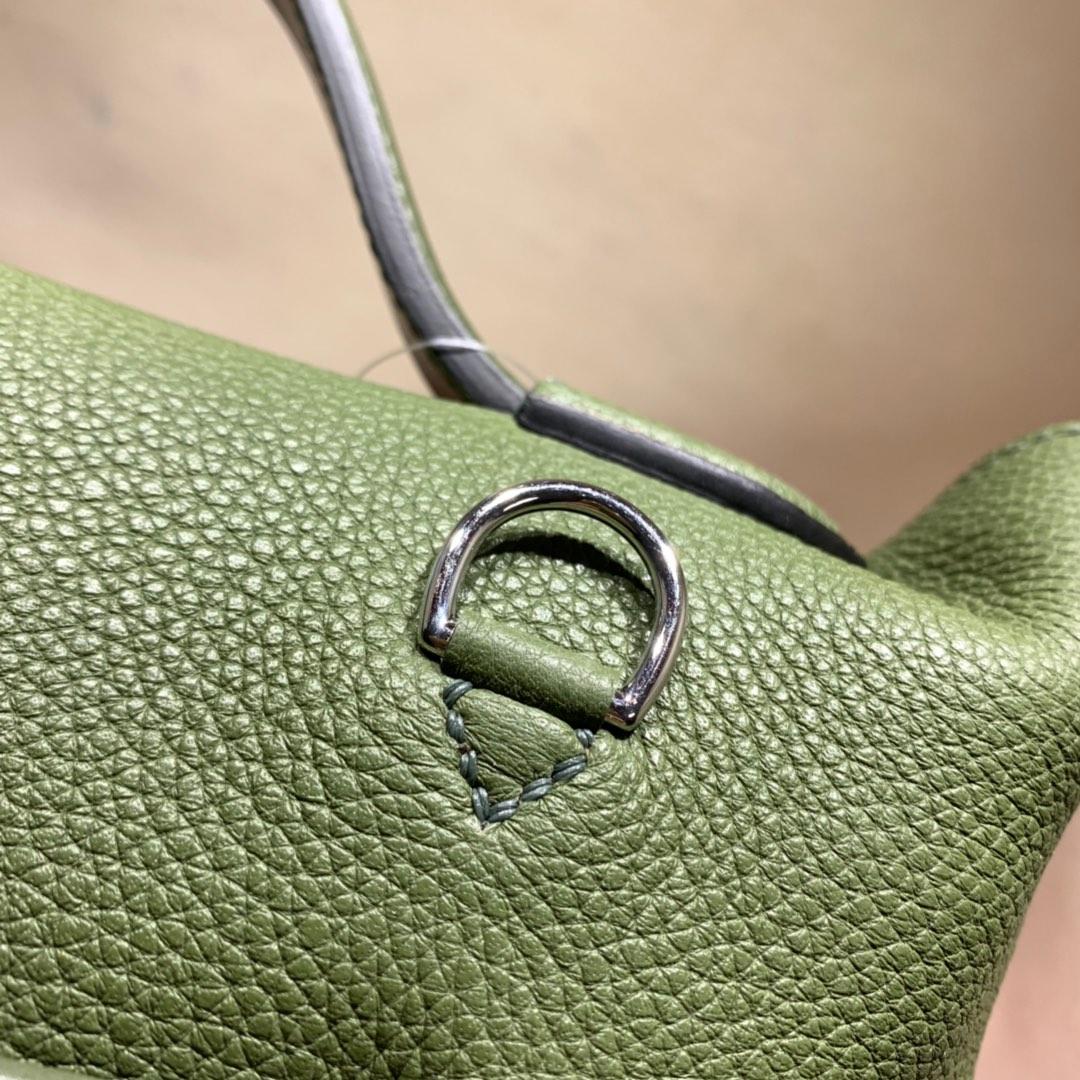 爱马仕包包批发 24-24Kelly 29cm 法国顶级Taurillon maurice V6 Cacncpee 丛林绿 银扣 顶尖工艺 手缝蜜蜡线缝制