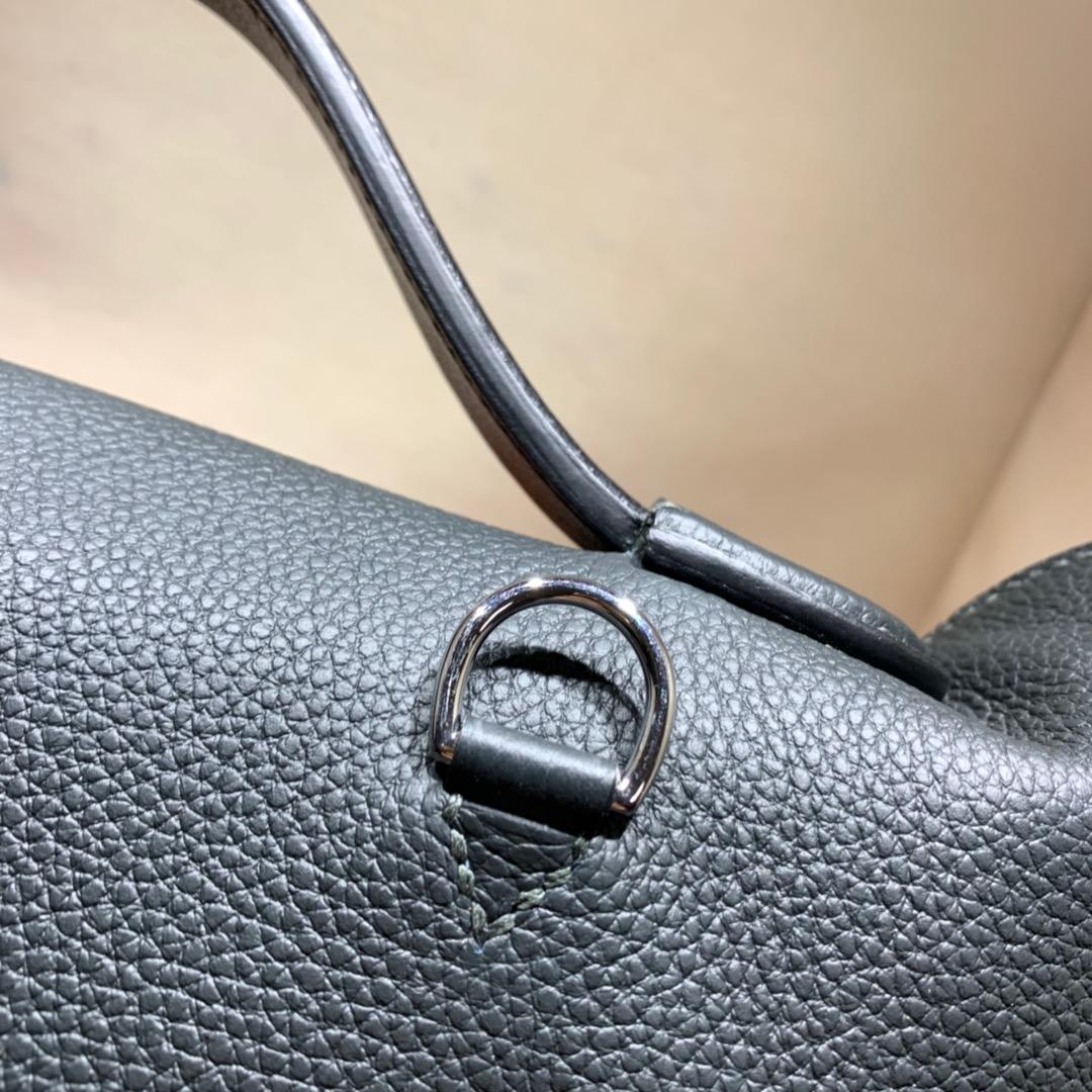 爱马仕包包批发 24-24Kelly 29cm 法国顶级Togo 88 Graphite 石墨灰 银扣 顶尖工艺 手缝蜜蜡线缝制