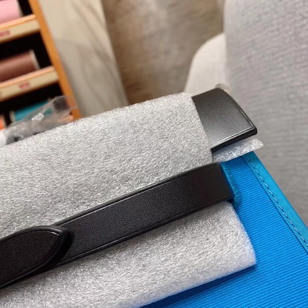 爱马仕包包 Herbag 31cm B3坦桑利亚蓝 蜡线全手缝