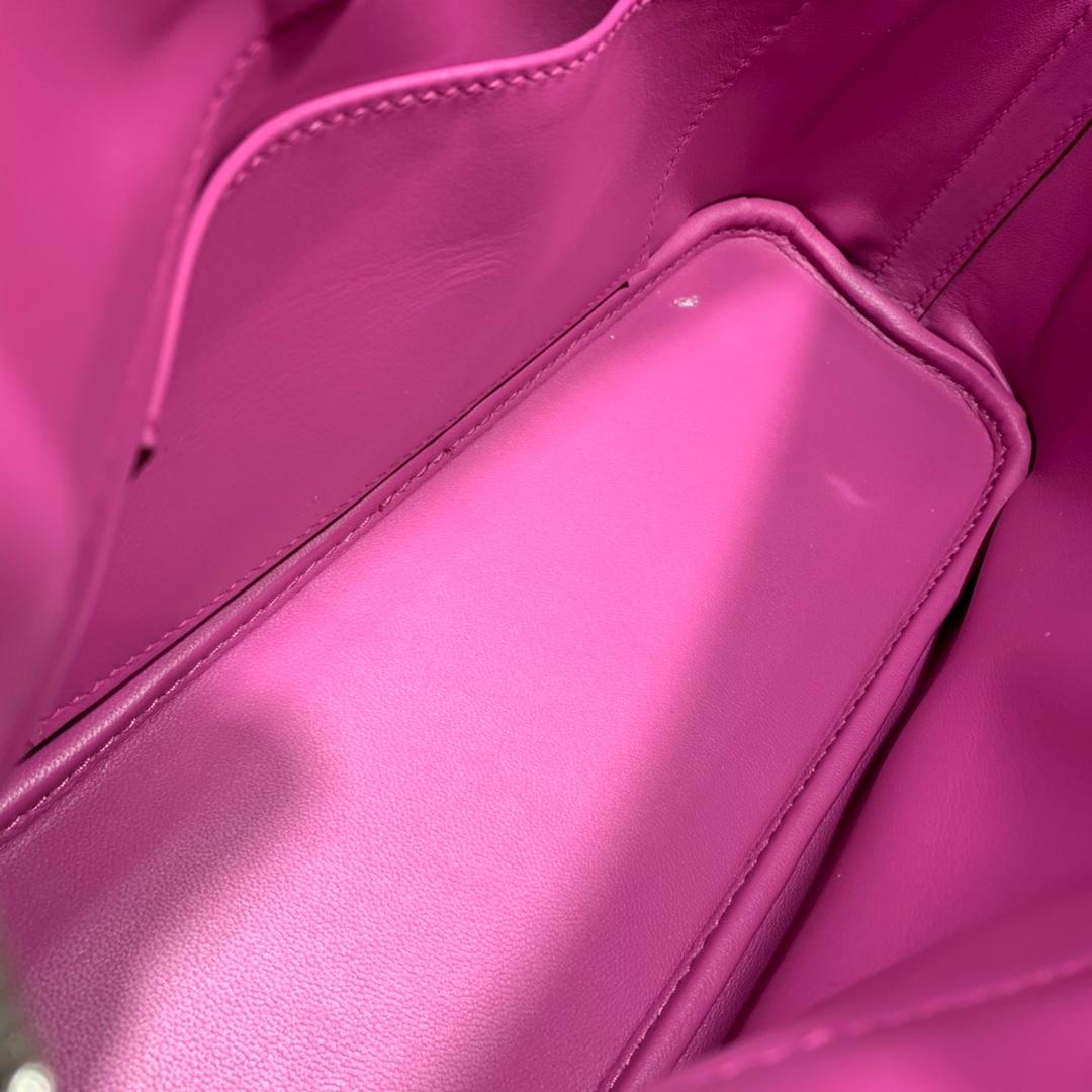 爱马仕包包批发 Bolide 27cm Epsom 9I玉兰粉 银扣 蜜蜡线手缝