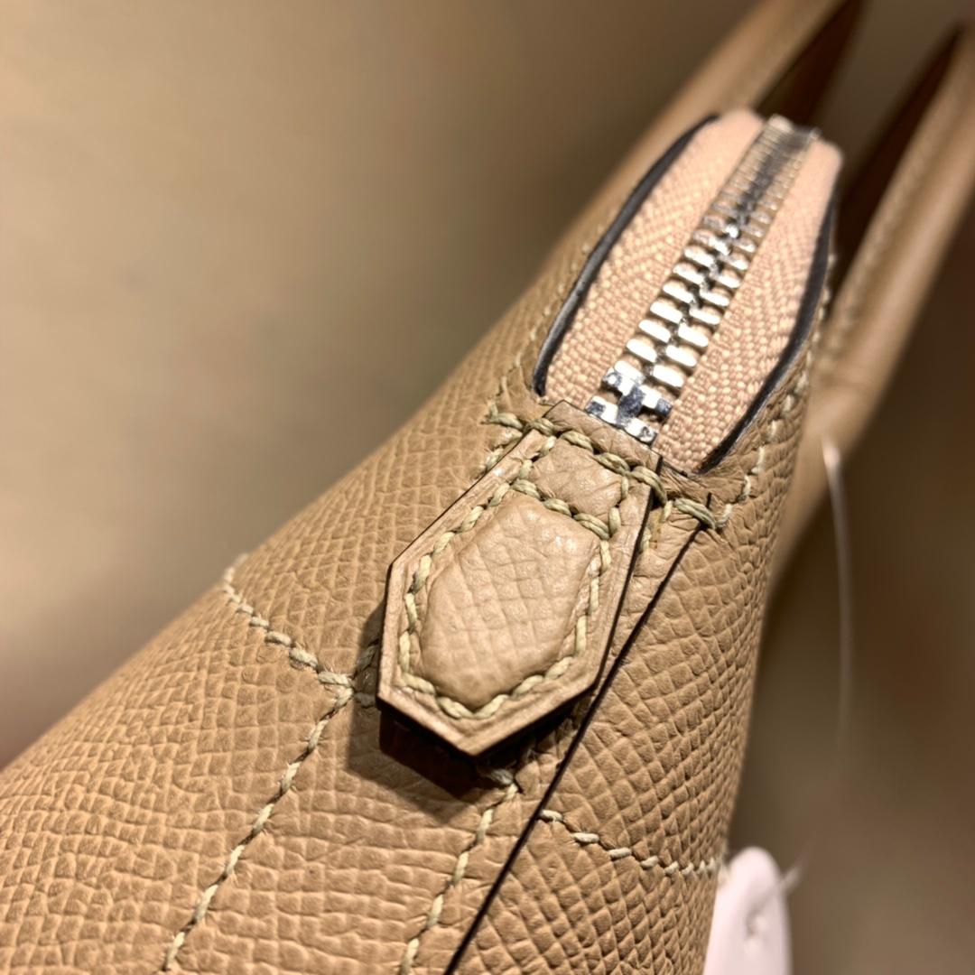 爱马仕包包批发 Bolide 27cm Epsom S2风衣灰 银扣 蜜蜡线手缝