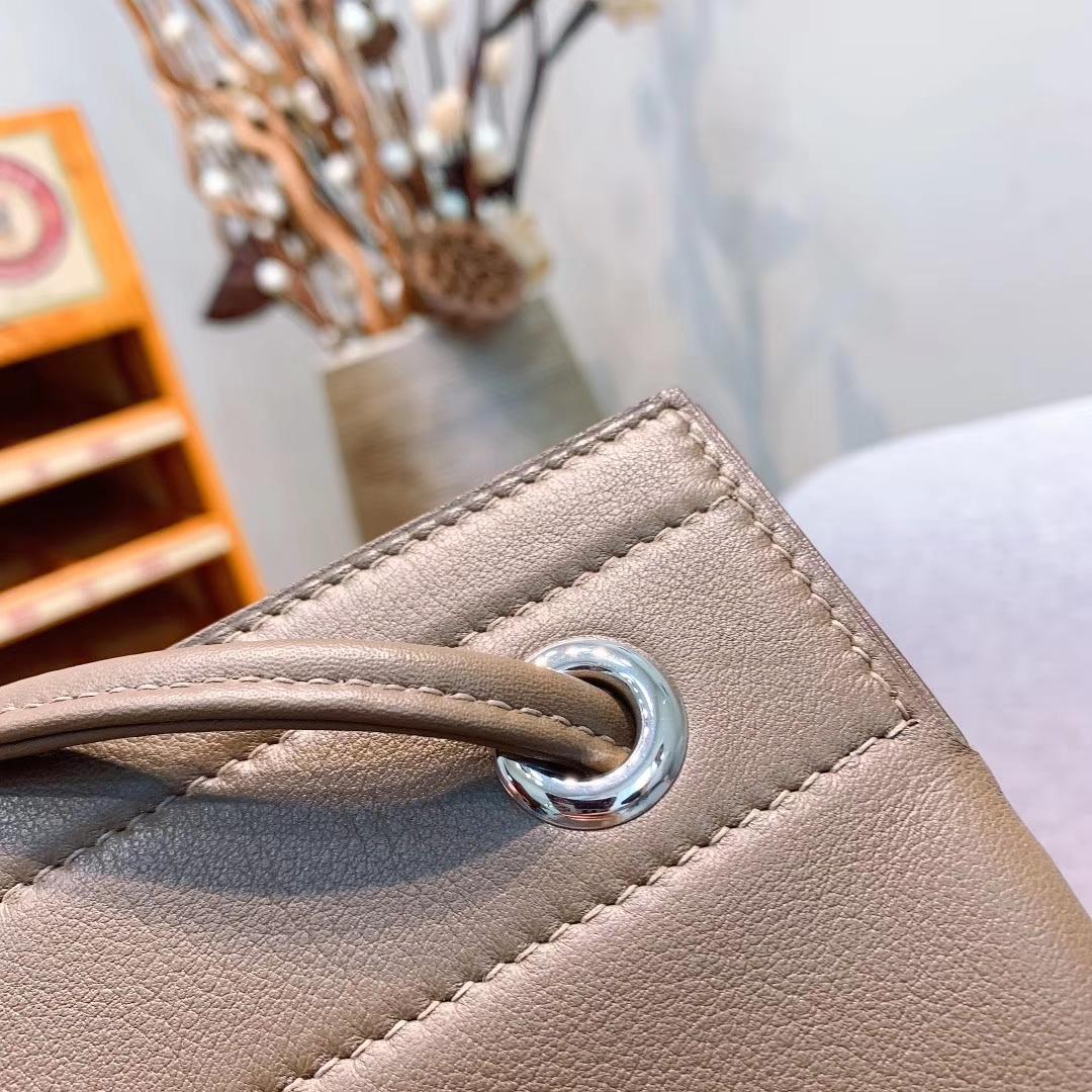 Hermes包包厂家 Aline Mini Swift 18大象灰 原产皮 珍品开模 一模一样