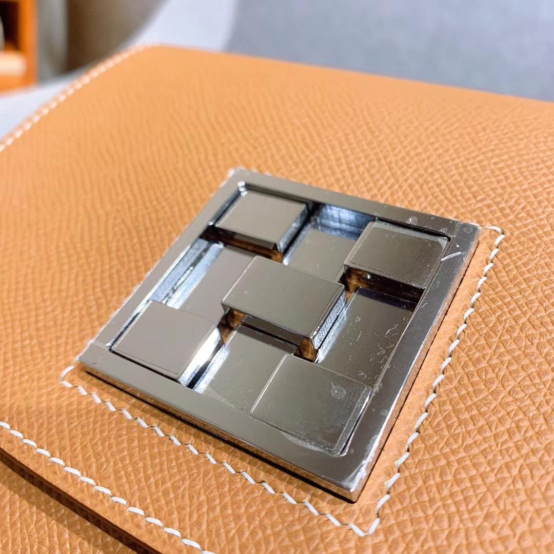 (正品对比)Mosaique马赛克 17cm Epsom 37金棕 银扣