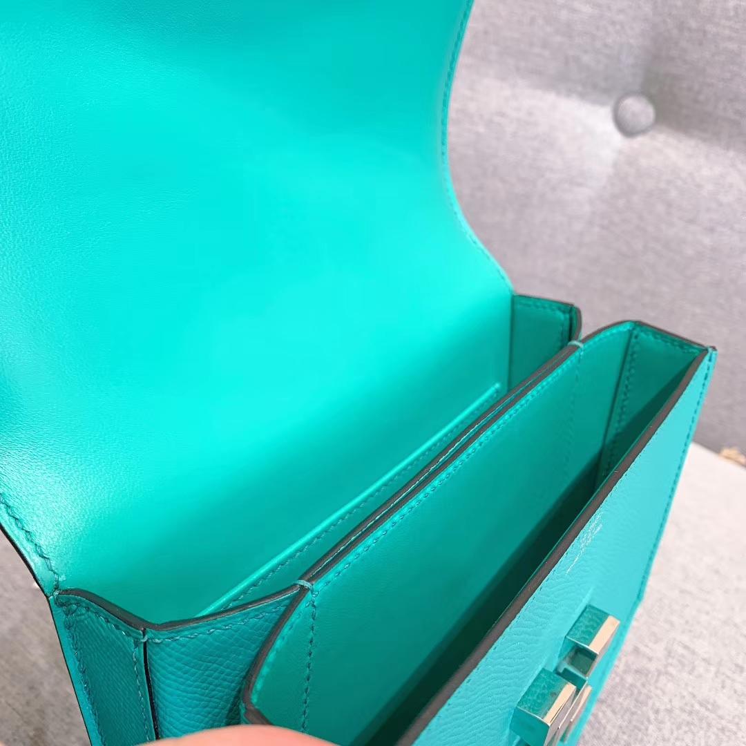 爱马仕包包 Mosaique马赛克 17cm Epsom U1维罗纳绿 银扣