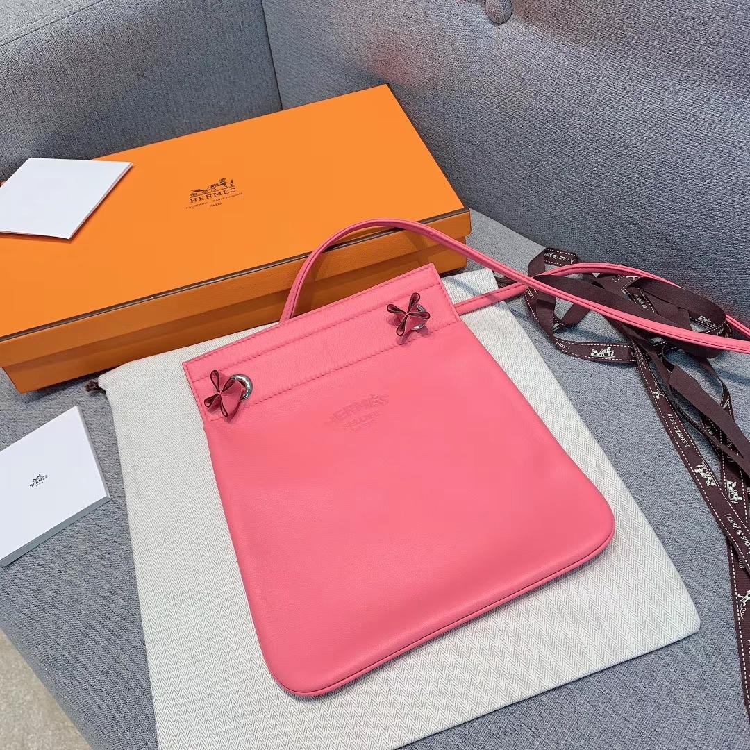 Hermes包包厂家 Aline Mini Swift 8W唇膏粉 原产皮 珍品开模 一模一样