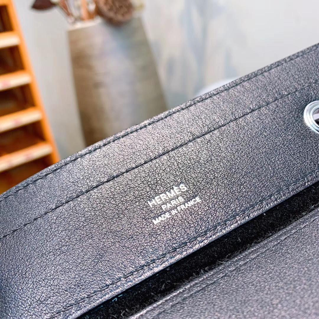 爱马仕工厂 Aline Mini Swift 89黑色 原产皮 正品开模