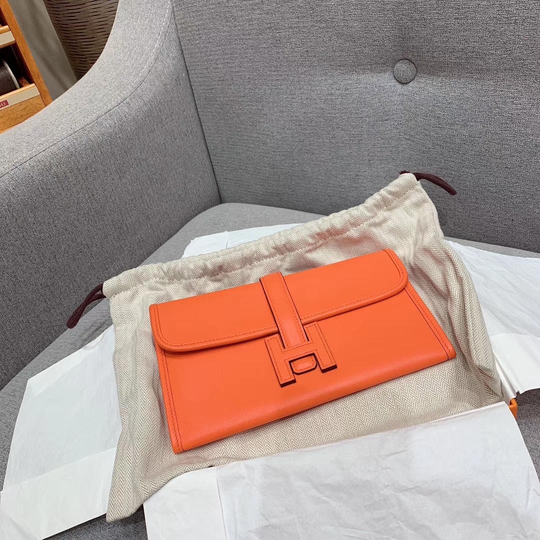 (正品细节)Jige Mini Swift 93橙/55爱马仕红