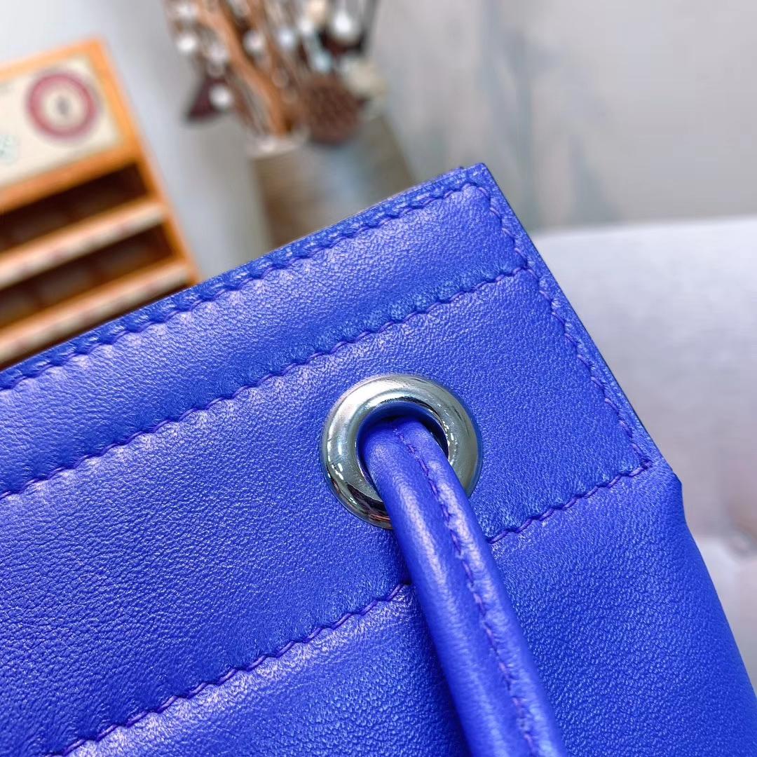 Hermes包包厂家 Aline Mini Swift I7琉璃蓝 原产皮 珍品开模 一模一样