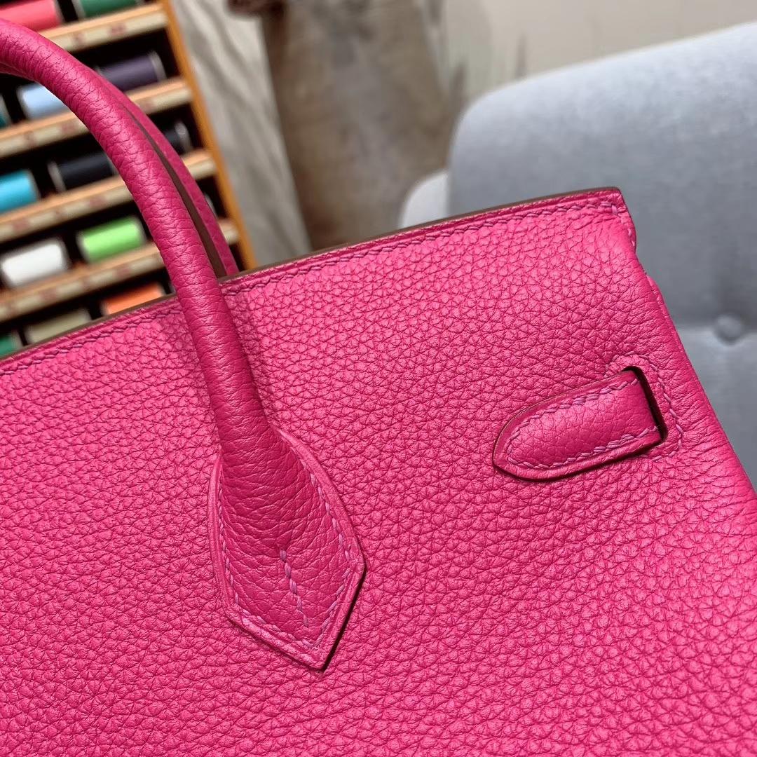 爱马仕铂金包 Birkin 25cm Togo L3玫瑰紫 金扣