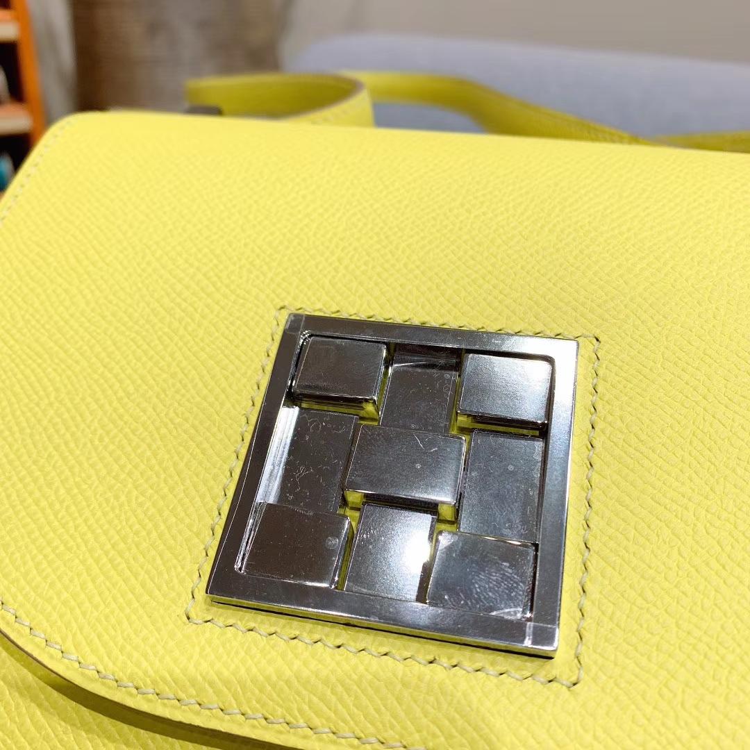 Mosaique马赛克 17cm Epsom 9R柠檬黄 银扣