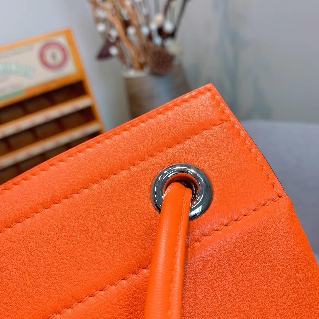 Hermes包包厂家 Aline Mini Swift 9J火焰橙 原产皮 珍品开模 一模一样