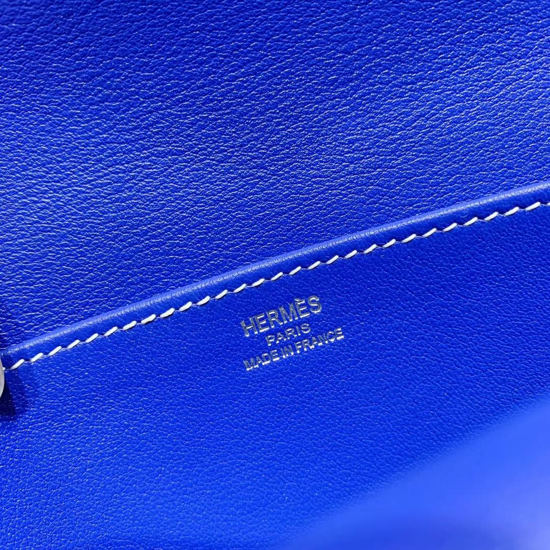 爱马仕包包 Hzlzan Mini Swift 7T电光蓝 银扣
