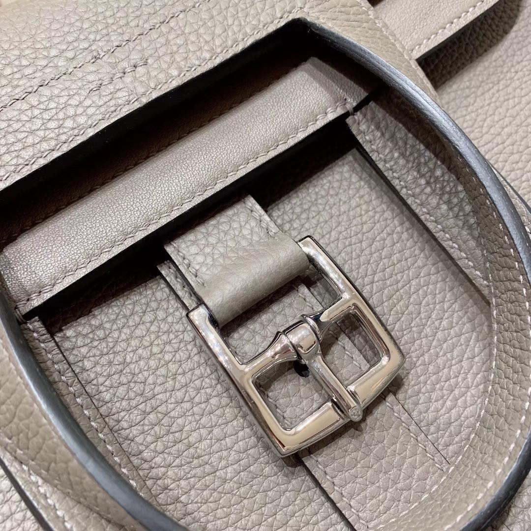 广州爱马仕 Hzlzan 31cm Clemence 8F锡器灰 银扣