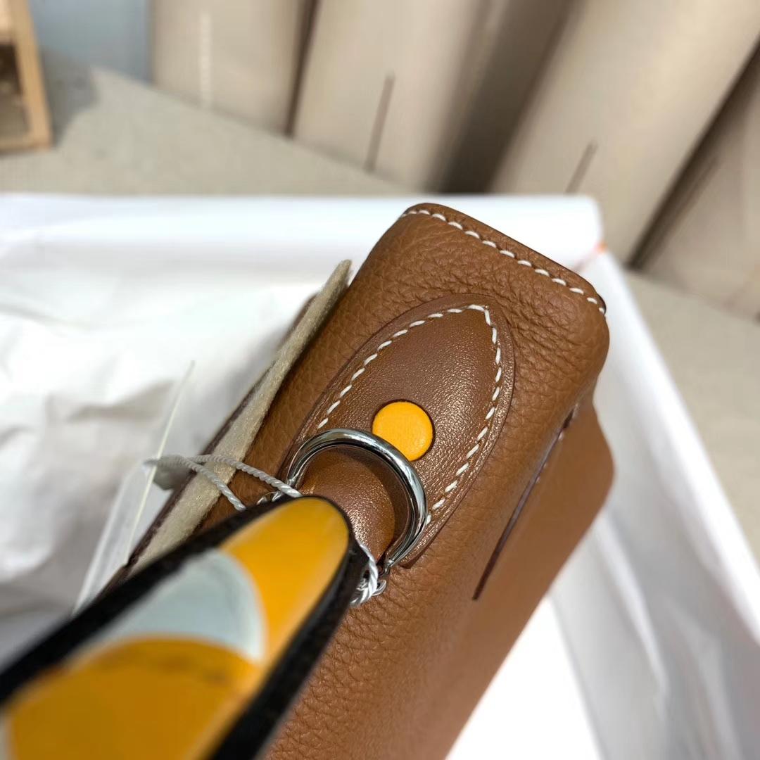 Hermes爱马仕 Kelly 28cm 法国原产Togo 37金棕 银扣