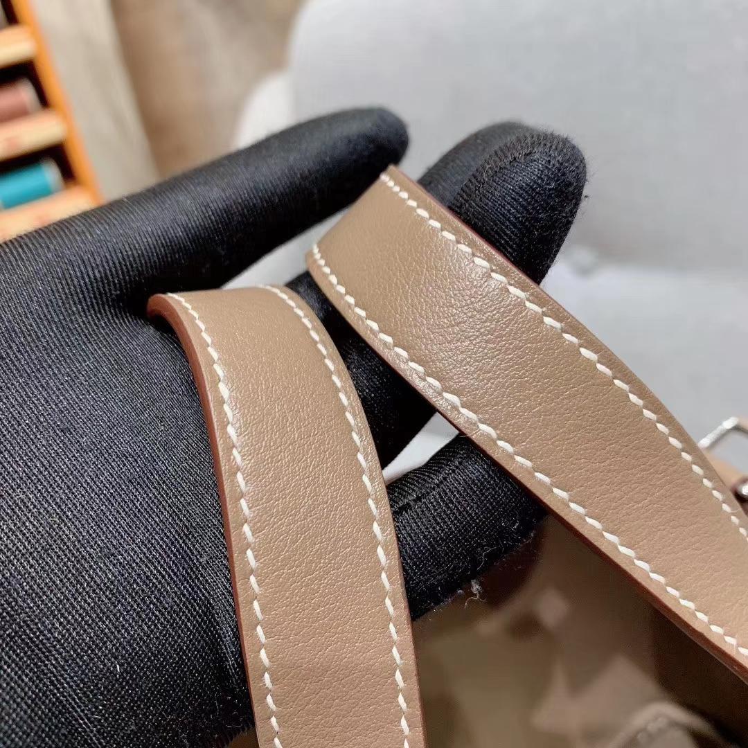 爱马仕菜篮子 Picotin Lock 14cm Swift 18大象灰 银扣 超迷你