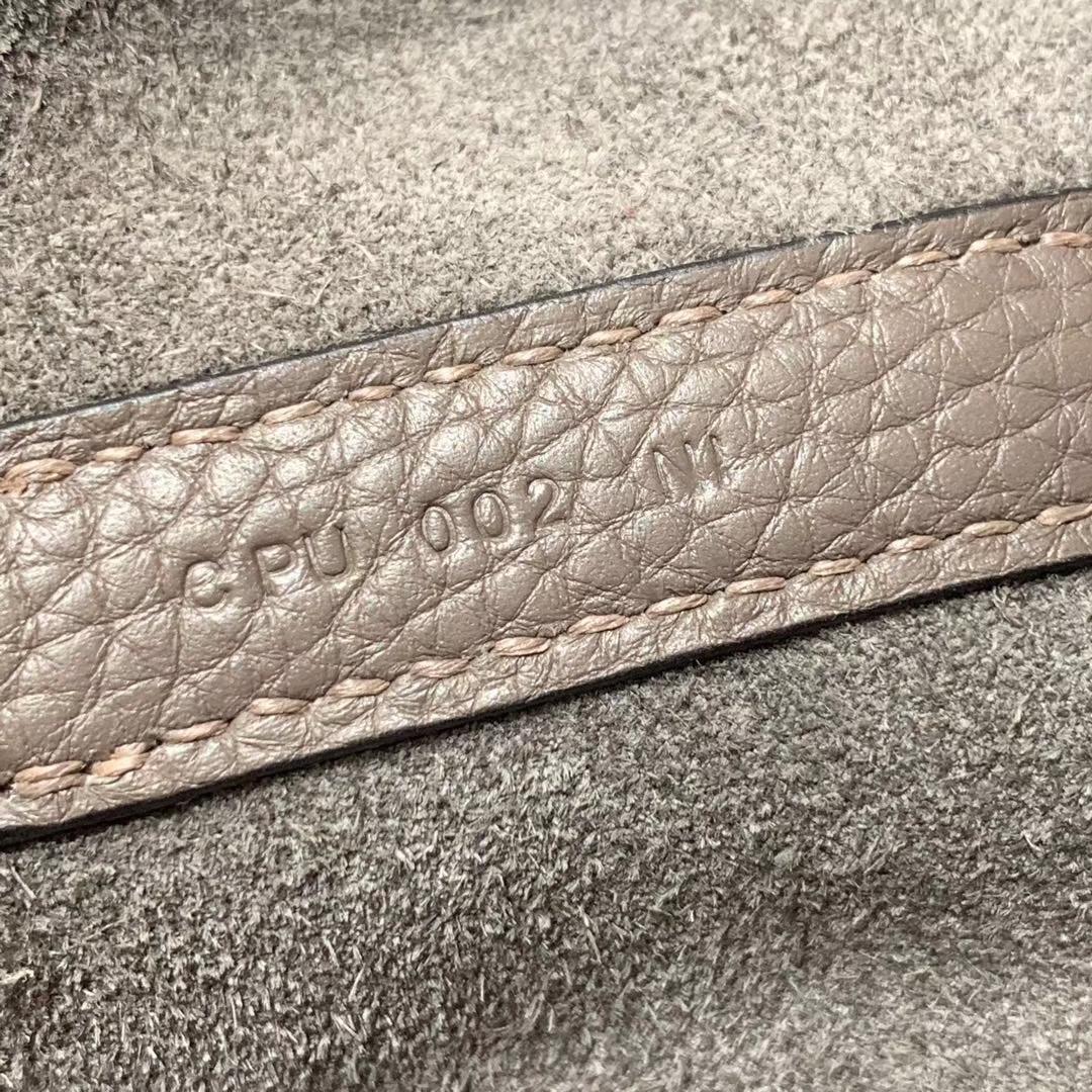 爱马仕Hermes 18cm Picotin菜篮子 法国进口原厂TC皮 锡器灰 银扣