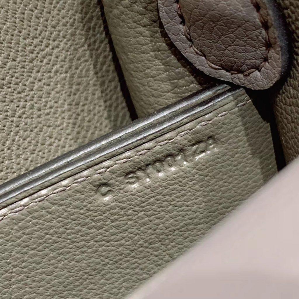 爱马仕猪鼻子 19cm Roulis 原厂Evercolor皮 铁灰 银扣