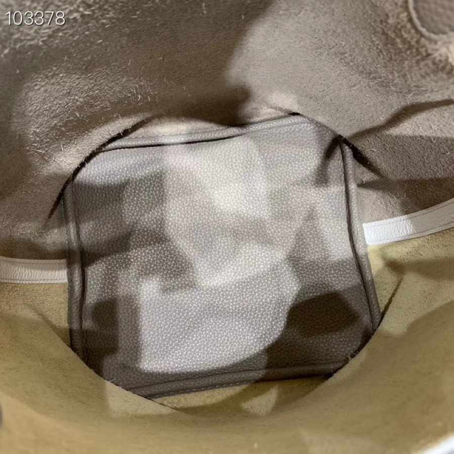 爱马仕菜篮子 Picotin Lock 22cm H入门款 白色拼冰川灰 银扣 蜡线手缝