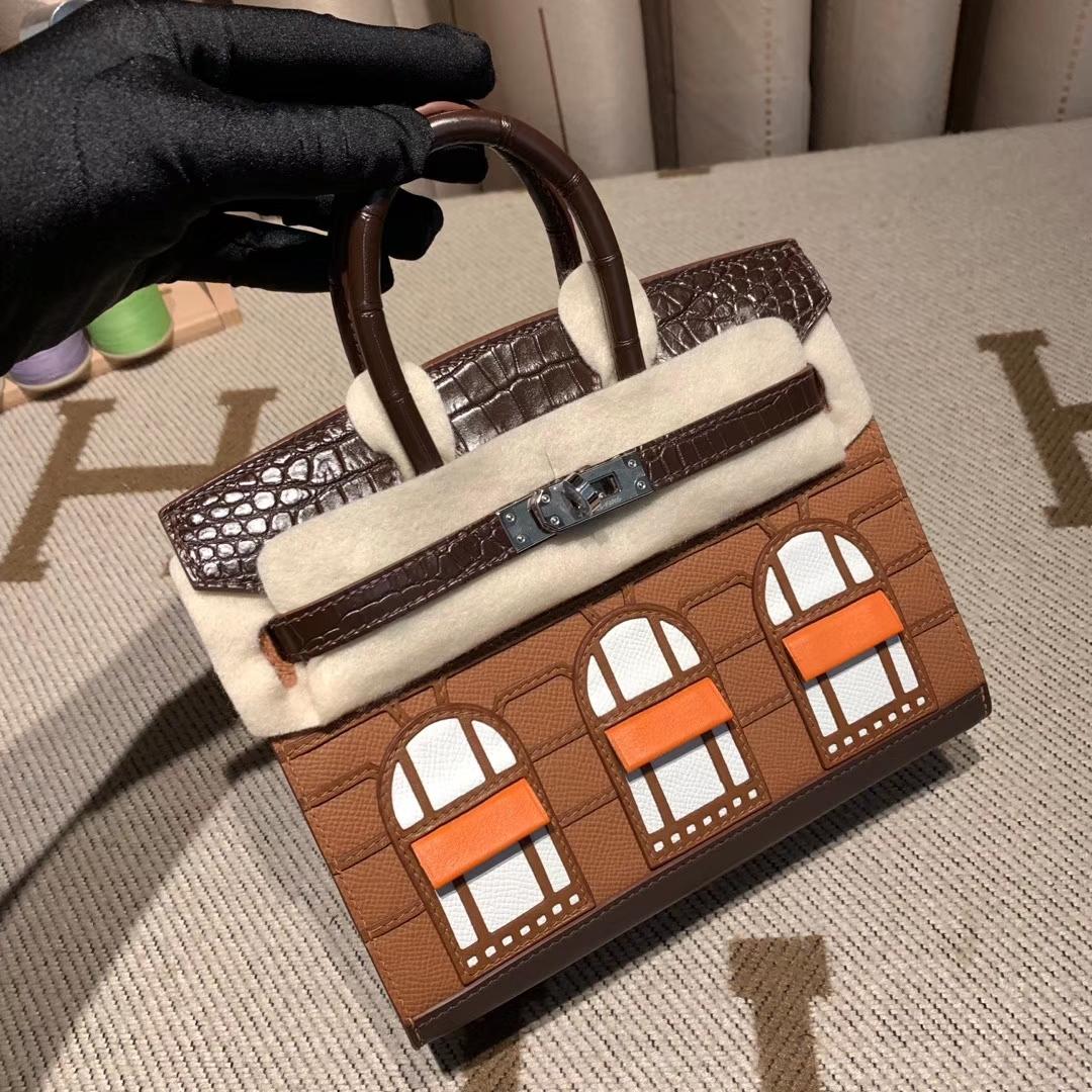 Hermes爱马仕 Birkin 20cm 外缝 超级限量作品 房子包