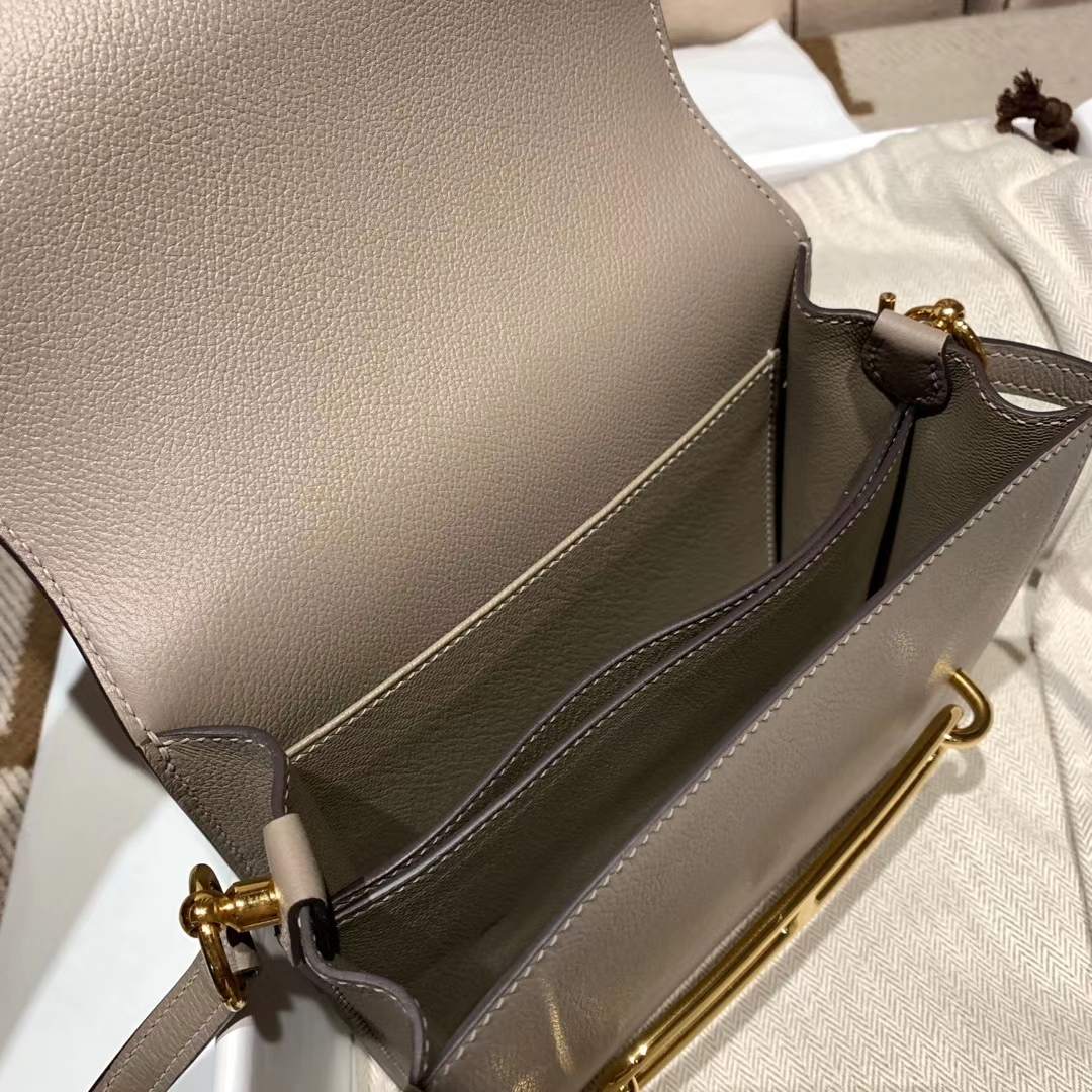 爱马仕中国 Roulis Evercolor M8沥青灰 金扣