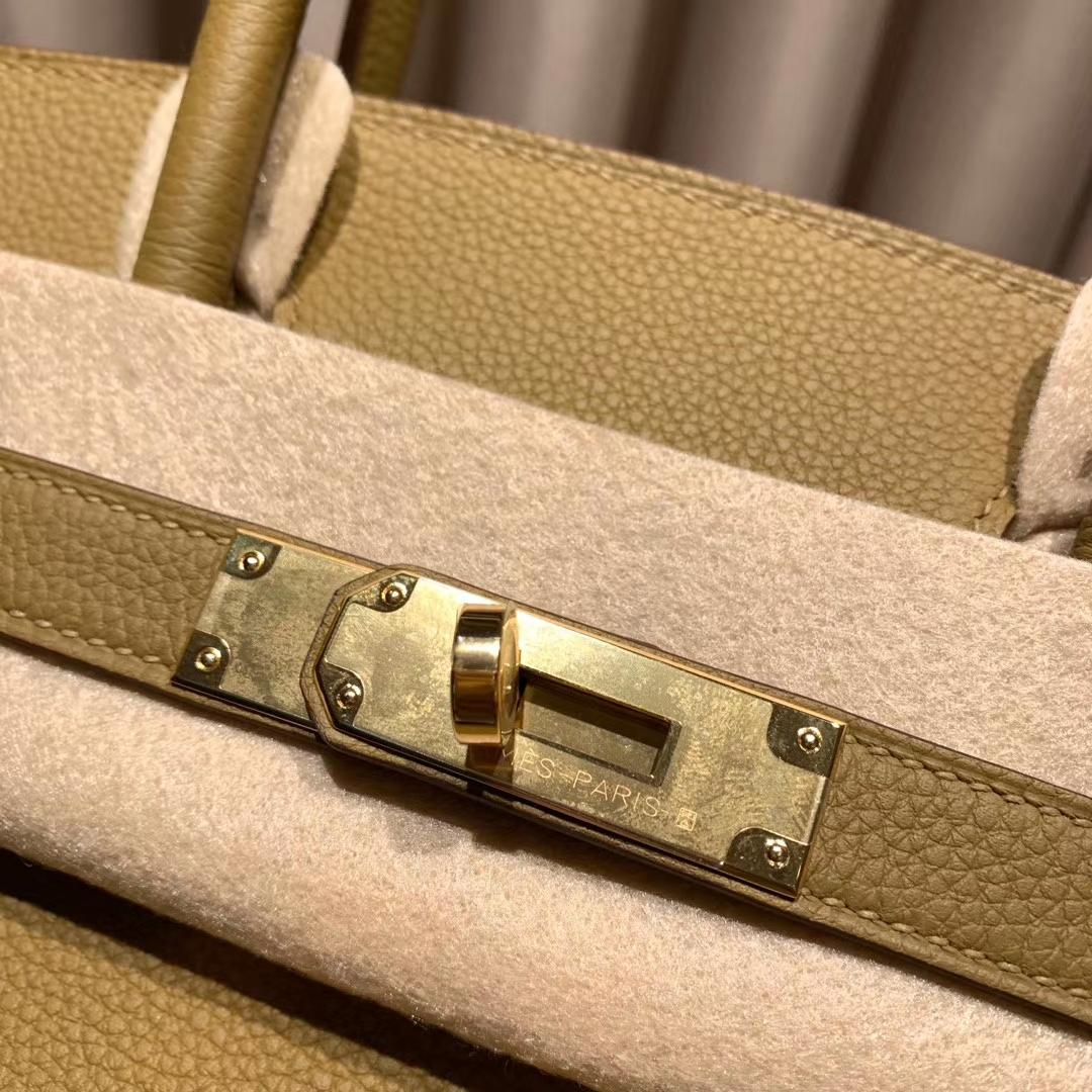 Hermes爱马仕 Birkin 30cm Togo U8青铜色 金扣