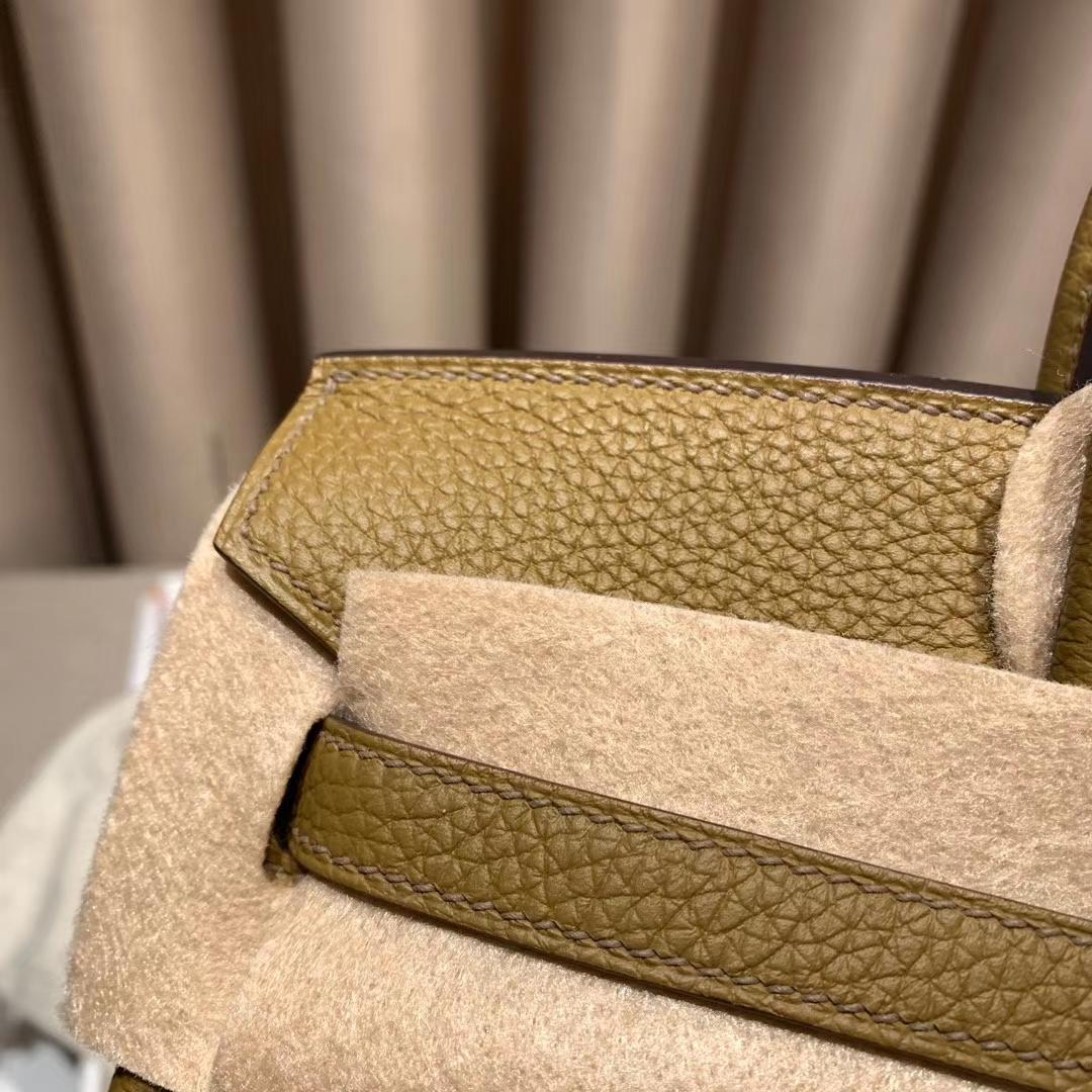 爱马仕铂金包 Birkin 25cm Togo U8青铜色 金扣