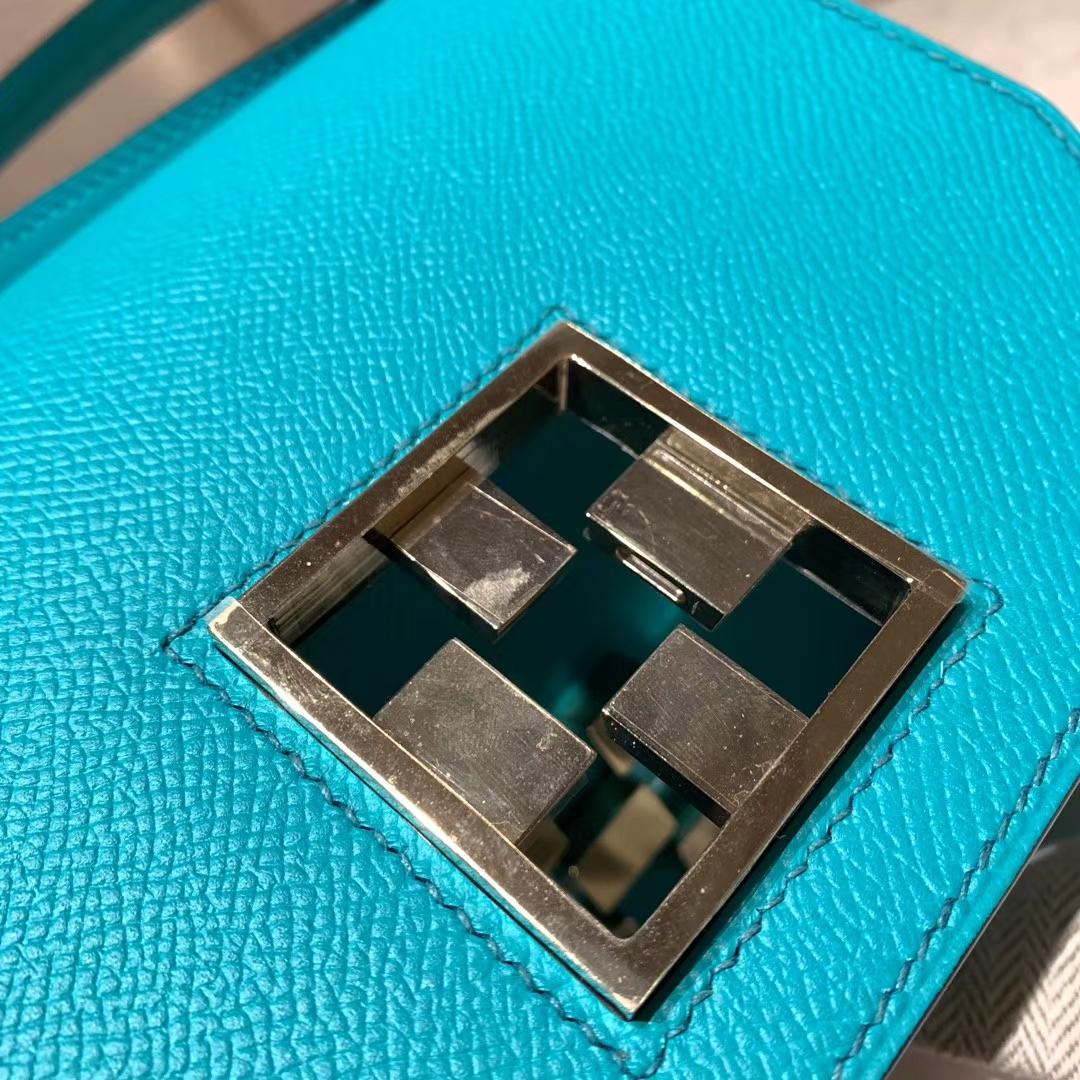 Hermes爱马仕 Mosaique马赛克 17cm Epsom U1维罗纳绿 淡金扣