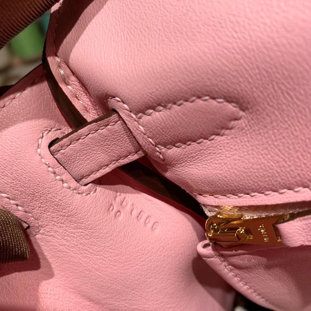 爱马仕包包 Kelly 25cm Swift 3Q粉 金扣