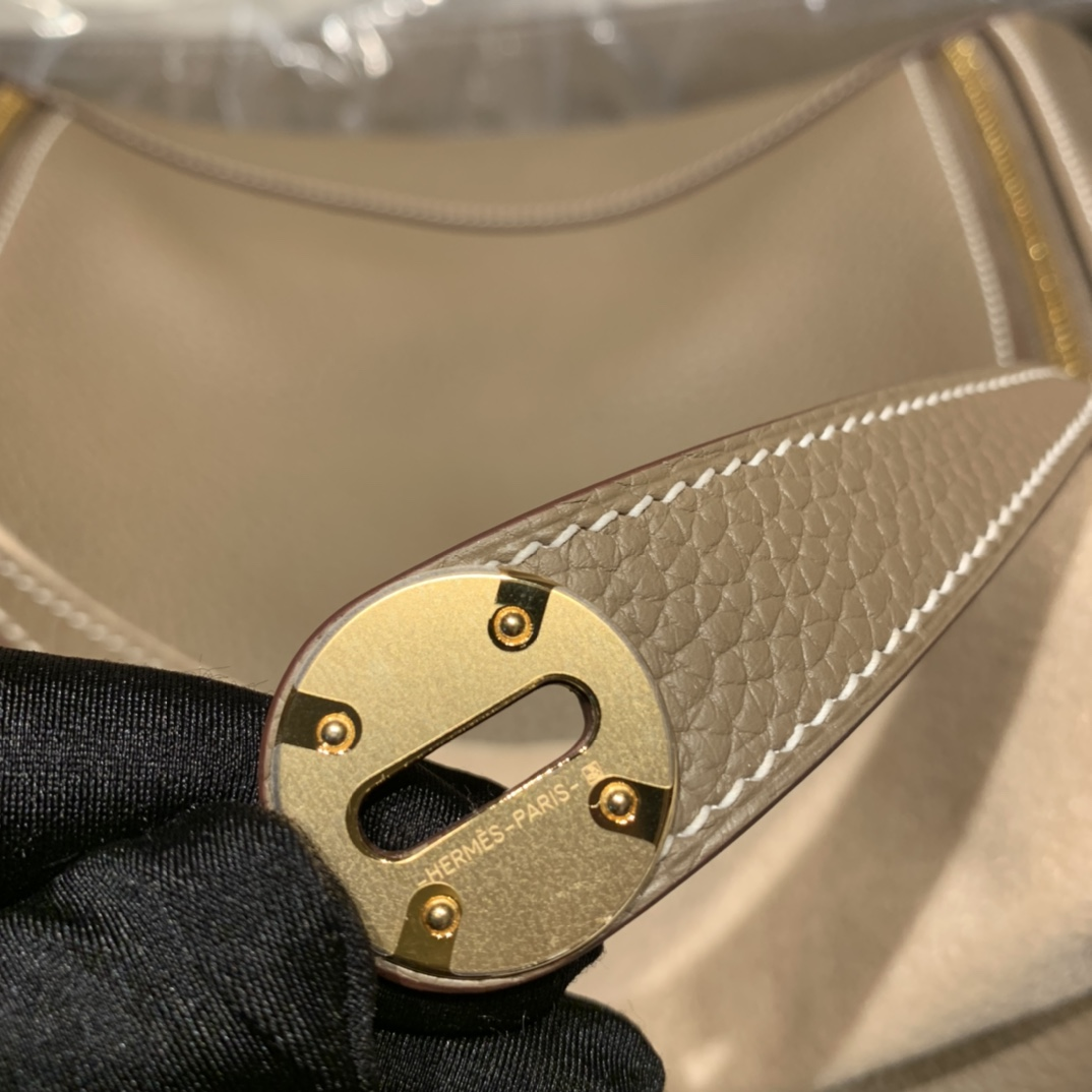 Hermes爱马仕 Lindy 30cm Clemence Tc皮 18大象灰 金扣
