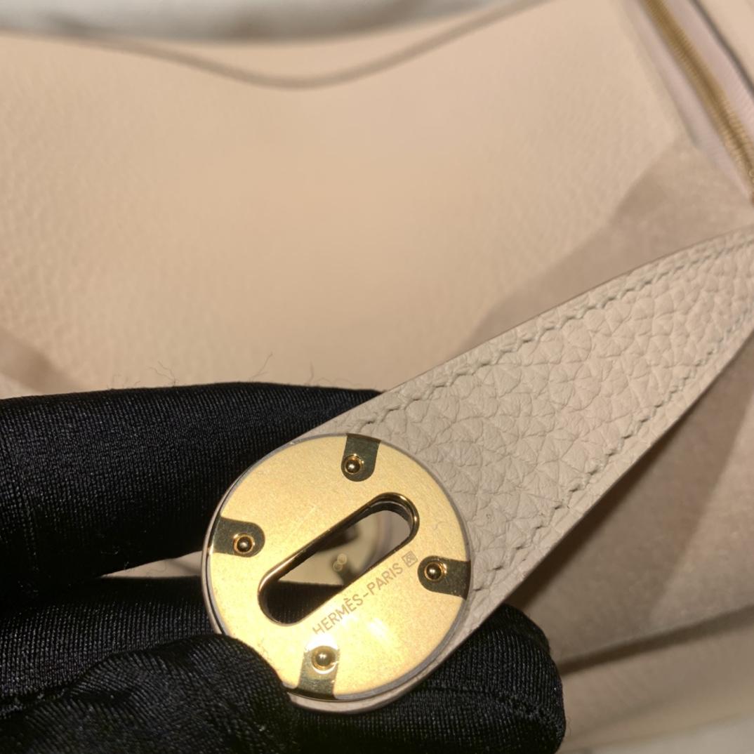 Hermes爱马仕 Lindy 26cm Clemence Tc皮 P1蔷薇粉 金扣