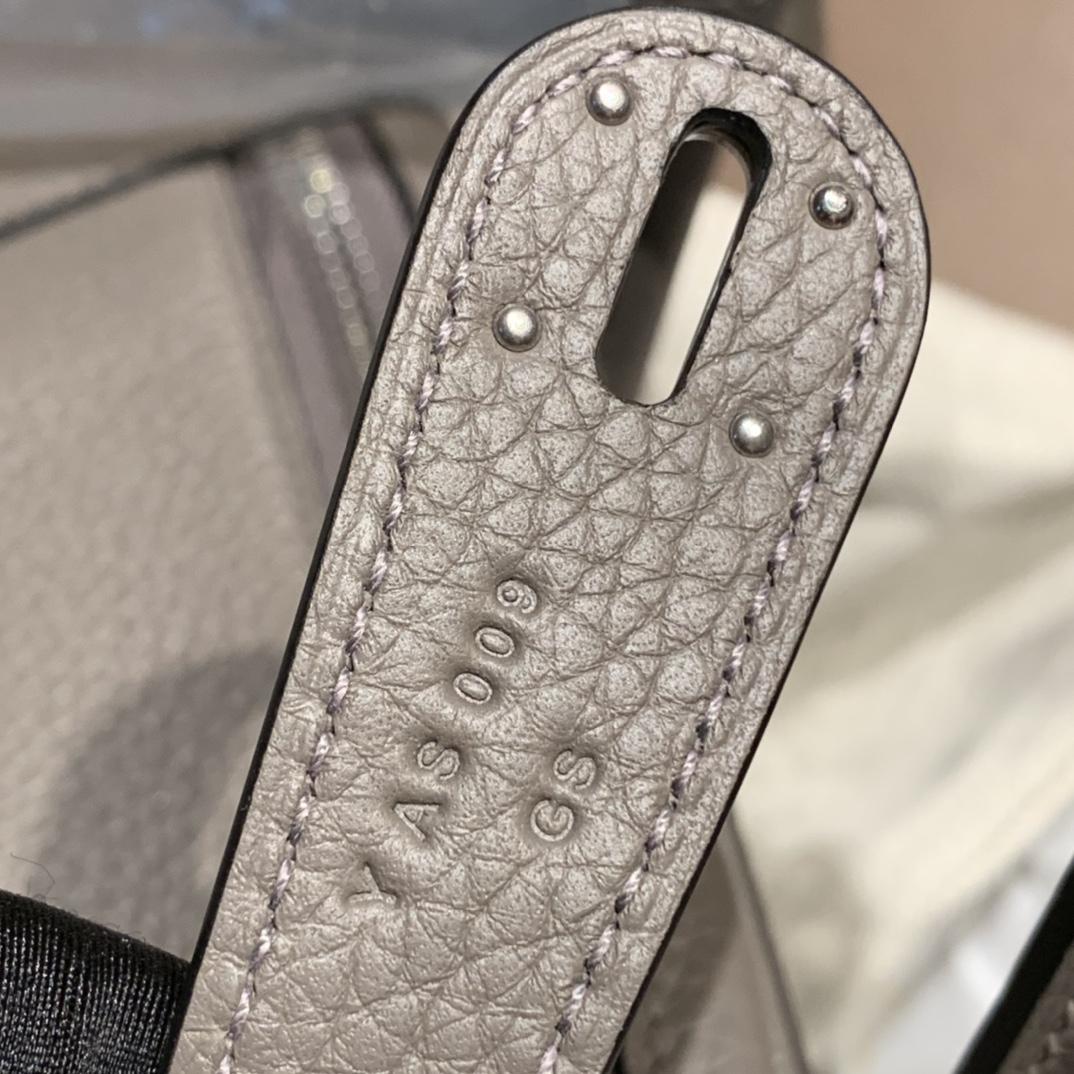 Hermes爱马仕 Lindy 30cm Clemence Tc皮 8F锡器灰 银扣