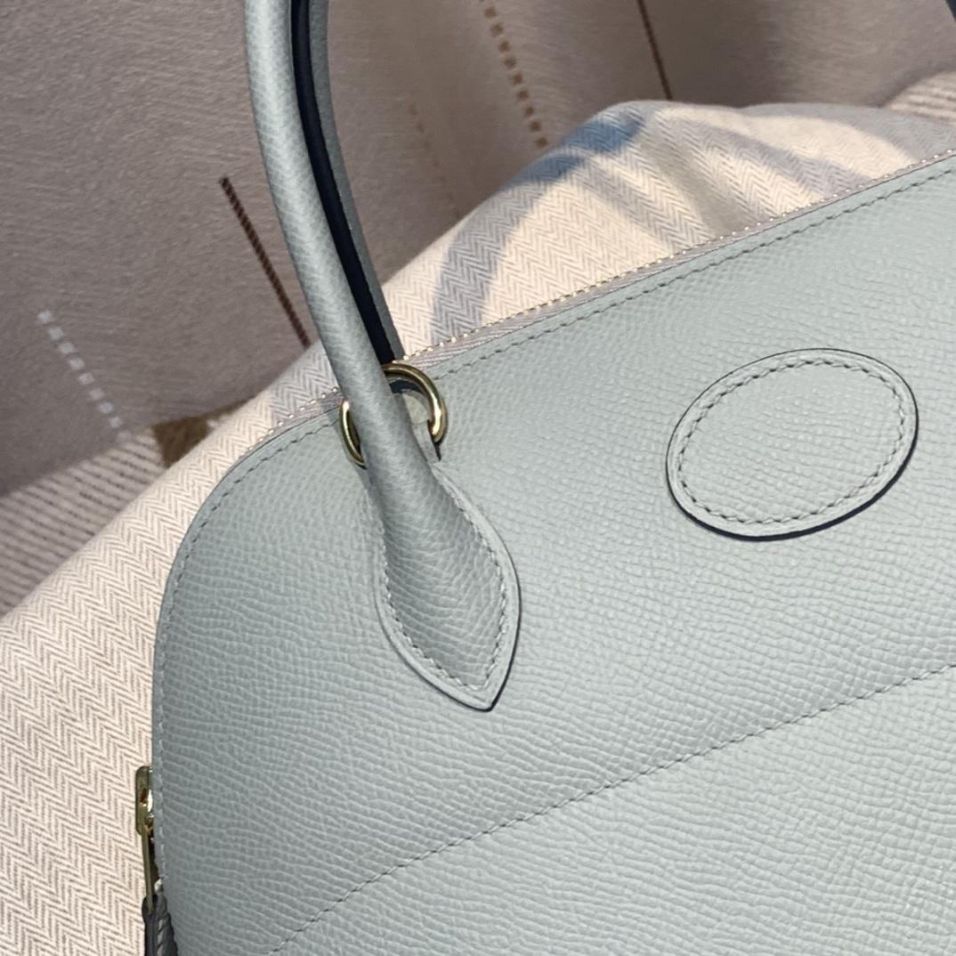 爱马仕包包批发 Bolide 27cm Epsom 手工蜡线缝制 Z4海鸥灰 银扣
