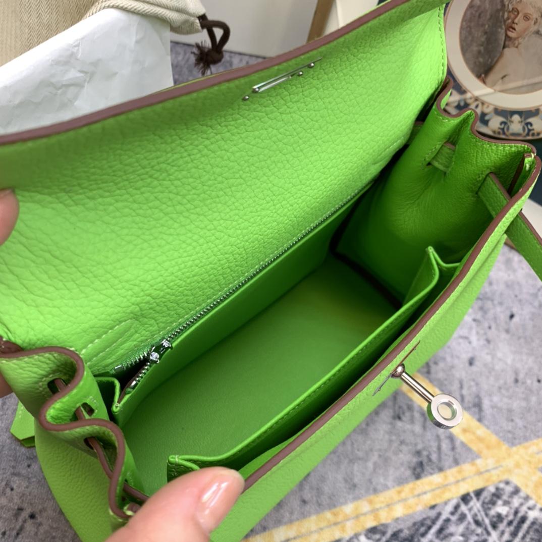 爱马仕包包 Kelly 25cm Togo皮 6R糖果绿 银扣