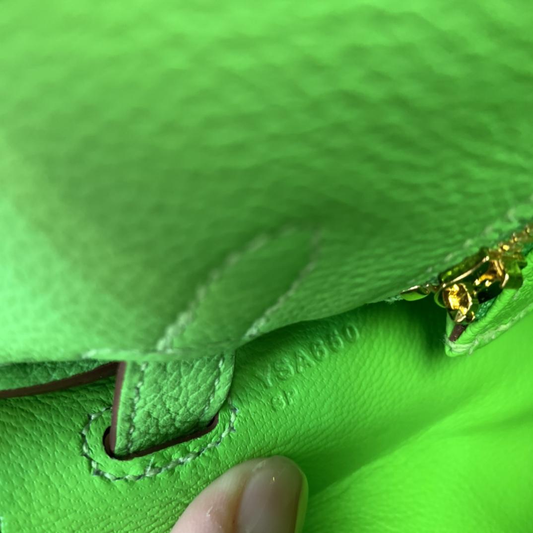 爱马仕包包 Kelly 25cm Togo皮 6R糖果绿 金扣