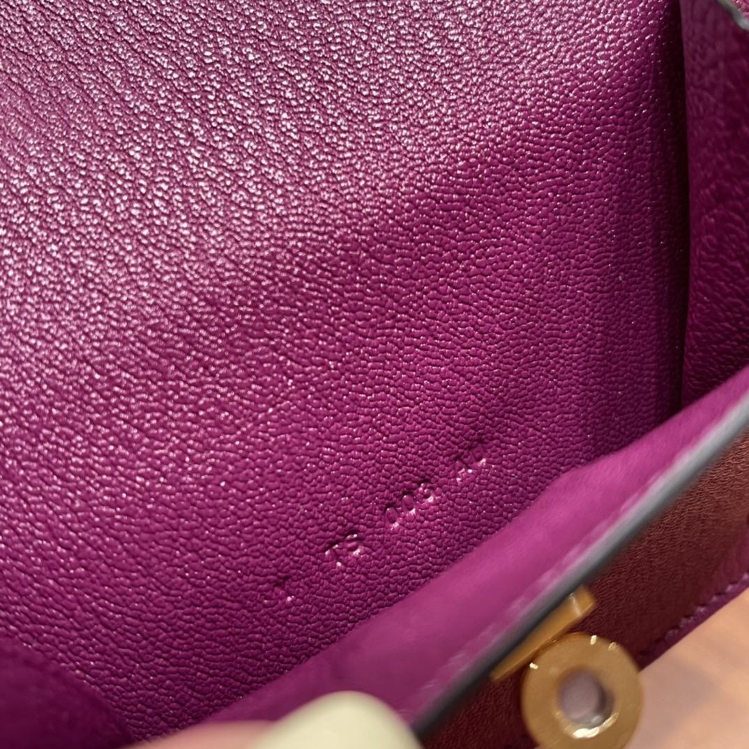 爱马仕包包 Kelly Pocket颜值和实用兼备 山羊皮P9海葵紫金扣